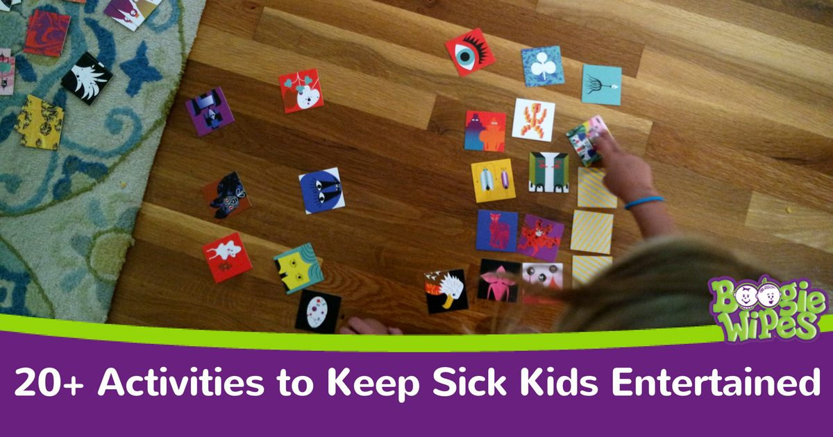 activities to keep sick kids entertained