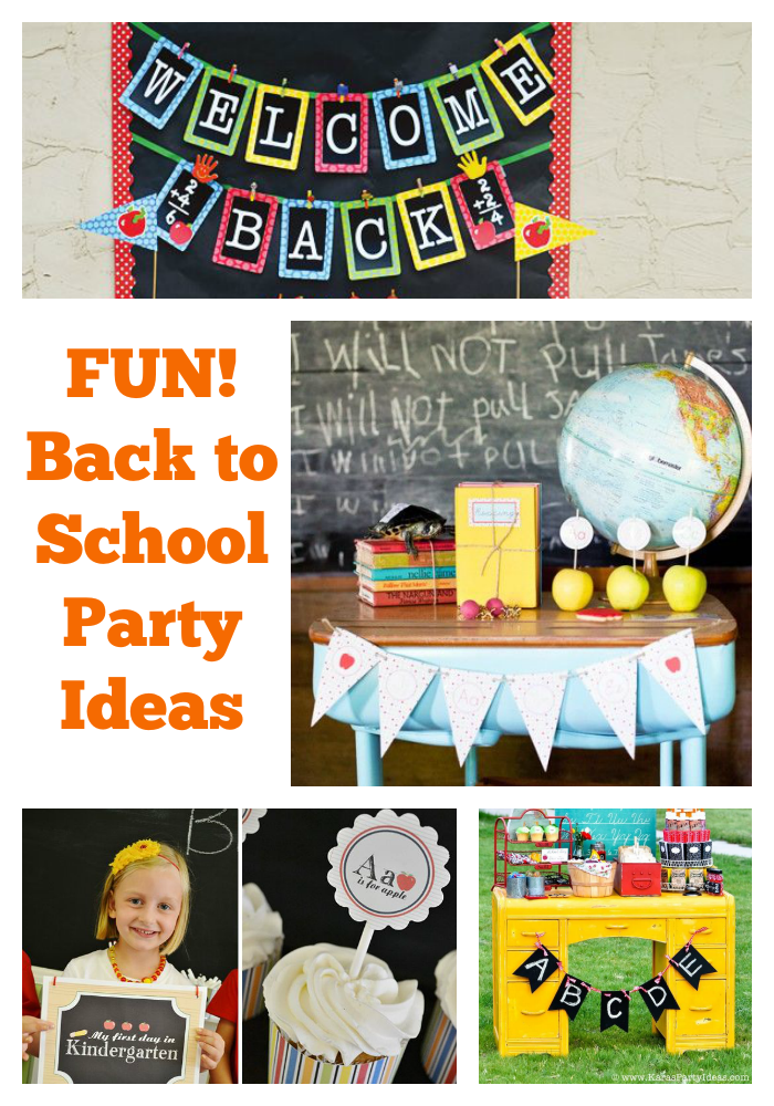 Fun Back to School Party Ideas! If you're looking for some fun ways to get your kids excited about going back to school, think about throwing a Back to School Party!