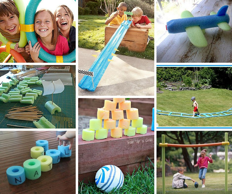 Pool Noodle Games and Crafts FB