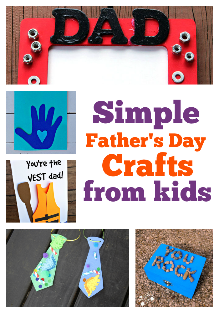 Simple Fathers Day Crafts From Kids