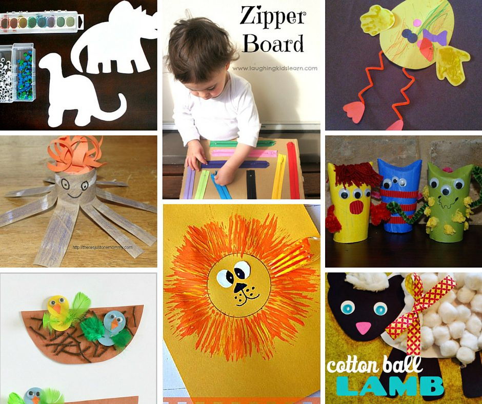 These 12 DIY crafts for toddlers are easy to make and fun. Do one craft a day for a sensory and learning experience that your kids will love.