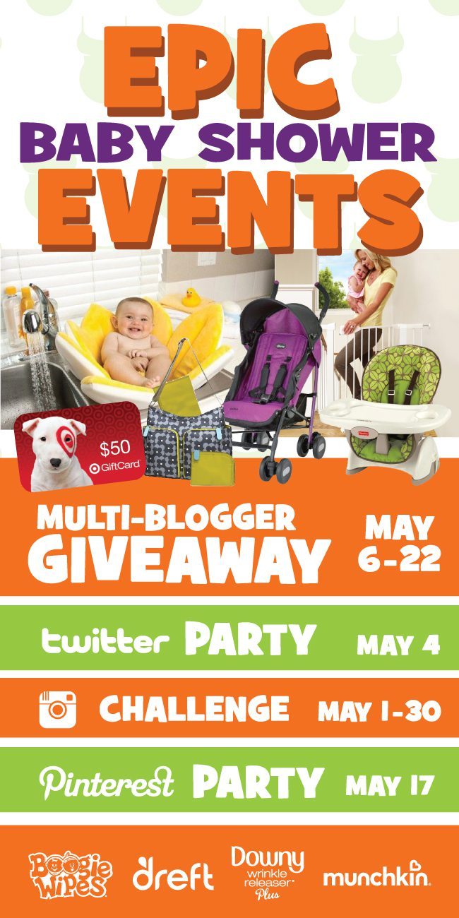 We're throwing a series of EPIC baby shower events, parties and giveaways in the month of May. Join us and enter to win now!