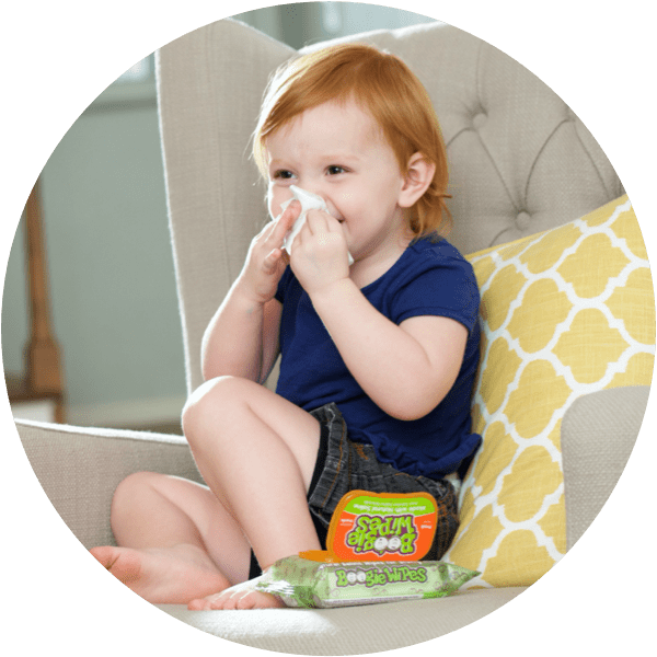 child using boogie wipes on their own